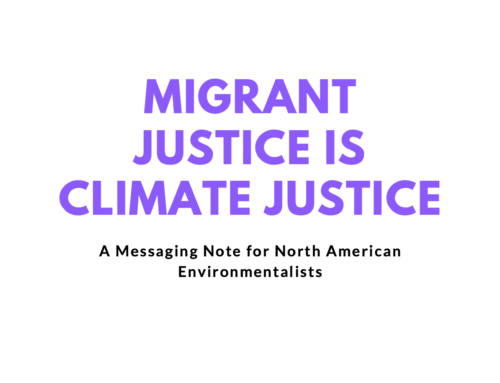 Migrant and Climate Justice Briefing